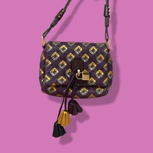 Marc Jacobs patchwork quilted metallic purse